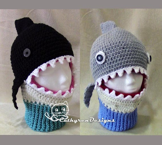 Sharkwhale Mask Ski Hat 5 Sizes Child Adult Instant Download