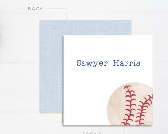 Boys Calling Cards | Kids Calling Cards | Baseball Gift Tags | Mommy Calling Cards | Playdate Cards | Mommy Cards | Personalized Gift Tags