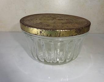 Vintage Kerr Jelly Glass Jelly Jar Trinket Dish Jar Shabby Chic