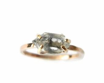 Engagement Rings for Women, Daimond Rings, Diamond Engagement Rings, Rose Gold Rings, Rose Gold Engagement Rings, Herkimer Diamond Ring