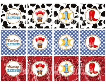 LITTLE COWBOY cupcake toppers - U PRINT - 2 to choose