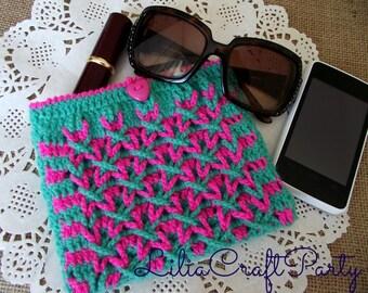 CROCHET BAG PATTERN Fiona Purse Bag crochet purse pattern pdf pattern Instant Download Cosmetic Case Glasses Case Purse Bag Pattern