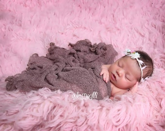 Dusty Mauve RTS Stretchy Soft Newborn Knit Wraps 80 colors to choose from, photography prop newborn prop wrap