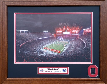 Ohio State Buckeyes 2015 Blackout game vs Penn State 20 inches x 16 inches