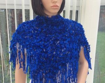 Royal blue scarf, soft blue scarf, striking blue scarf, blue accessory , sensational scarf, stunning blue scarf, blue wedding wrap,