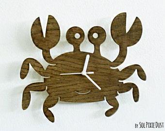 Cute Crab - Wooden Wall Clock