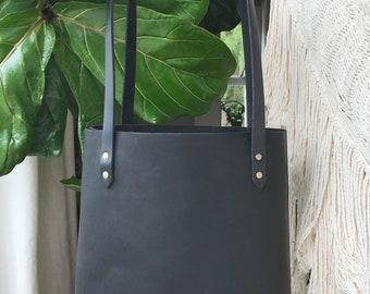 Nina Tote in Black Leather
