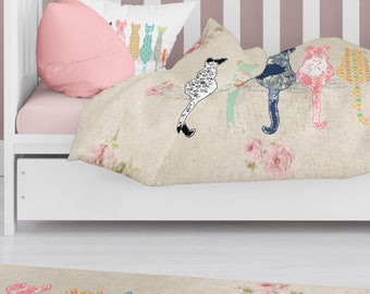 cat nursery bedding toddler girl bedding cat crib bedding cat comforter kids bedding toddler duvet toddler comforter twin duvet cat duvet