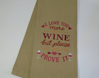 Valentines Day Love Dish Towels, Valentines Day Gift Basket Ideas, Valentines Day Decorations, Valentines Day Gifts, Holiday Dish Towel