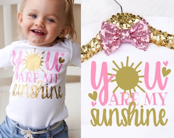 Baby Girl's You Are My Sunshine Onesie, My Sunshine Shirt, You Are My Sunshine Shirt, You Are My Sunshine Gift, You Make Me Happy Shirt