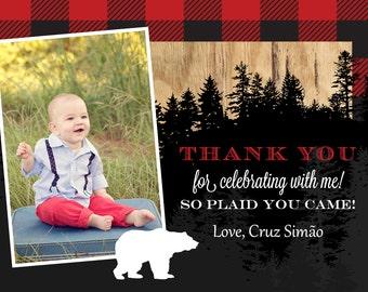 Lumberjack Thank You Card