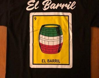 Mexican Loteria  El Barril The Barrel shirt Lottery