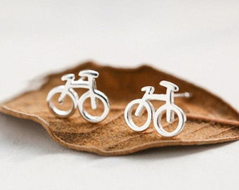 Bike Earrings, Gold Bike Earring, Cyclist Earrings, Cyclist Jewelry, Bicycle Jewelry, Cute Jewelry, Bicycle Earrings, Cyclist Gift, Bicycle