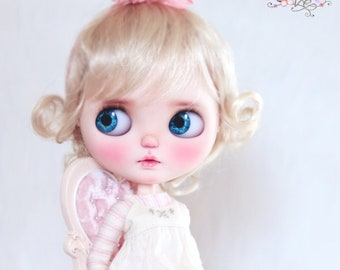 """10-11"""" BEAUTIFUL Short Blond Kiss doll WIG for Blythe and Neo Blythe Custom American Girl"""