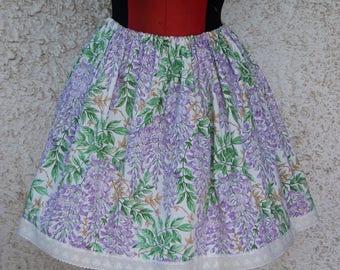 LilacxWhite wisteria lolita skirt
