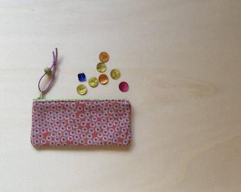 Cotton canvas case. Pencil case.