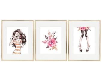 Fashion Wall Art, Teen Room Decor, Fashion Decor, Glamour Print, Teen Girl Gifts