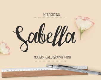 Font download calligraphy font font instant download digital