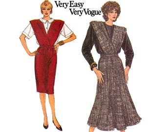 Vogue 9641 Womens Jumper & Blouse 80s Vintage Sewing Pattern Size 8 10 12 Bust 31 1/2 32 1/2 34 inches