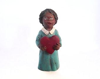 Black Americana Girl, Little Black Girl, Black Americana Collectibles, Resin Girl Figurine, Resin Black Girl Figurine, by New York Treasures