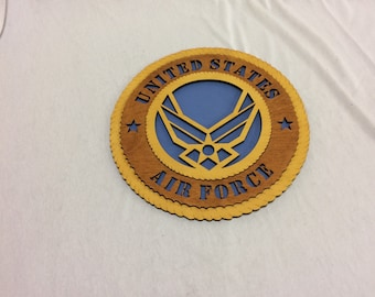 Air Force Wings Wall Plaque Wooden Model