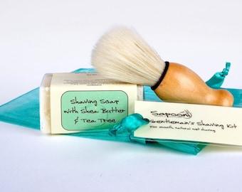 Gentleman's Shaving Kit, natural shaving soap,mens soap,shaving soap,shaving kit,mens gift