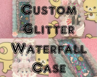 Custom Decoden Glitter Waterfall Whip Phone Case | iPhone Samsung Galaxy | IrisDecoden