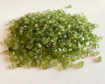 Peridot Chip Beads-Small Peridot Bead Chips