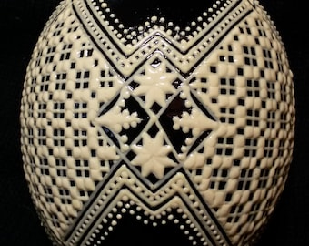 Hand painted ostrich egg