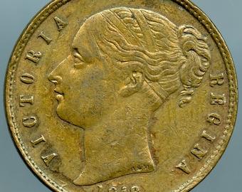 """Great Britain Empress Victoria Brass Token """"Spielmarke"""" 1846. """"Keep your Temper"""""""