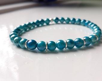 Blue Shell Pearl Stretchy Bracelet