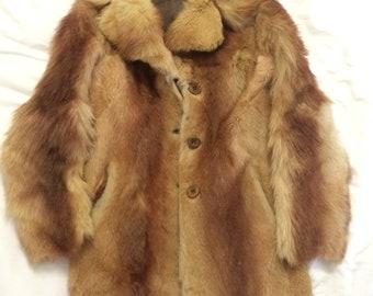 real caramel fur coat size M