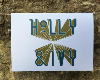 HOLLY & IVY // Christmas Card // Star Series