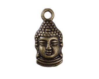 25 charms 16x8mm - SC0095936 - 43.2 cm Bronze Buddha Charm