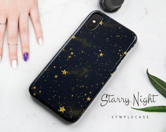 Galaxy S9 S8 S7 Edge Plus Samsung iPhone X 8 7 6s 6 Google Pixel 2 XL LG G5 G6 V30 Protective Tough Durable Phone Case Star Night Sky