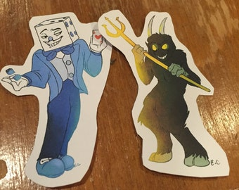 The Devil and The King Dice stickers
