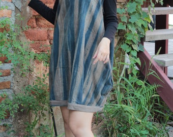 Valencia dress turtle neck...  Natural dye 100% cotton (one size fit from M-XL)