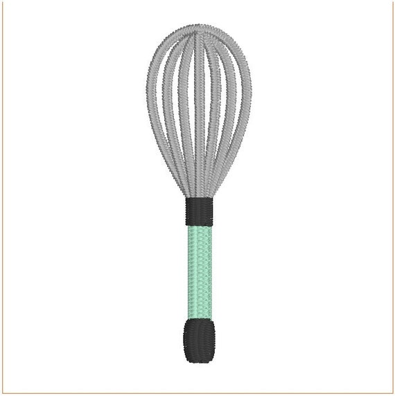 Whisk Kitchen Utensil Embroidery Design 2 And 3 Size Tiny
