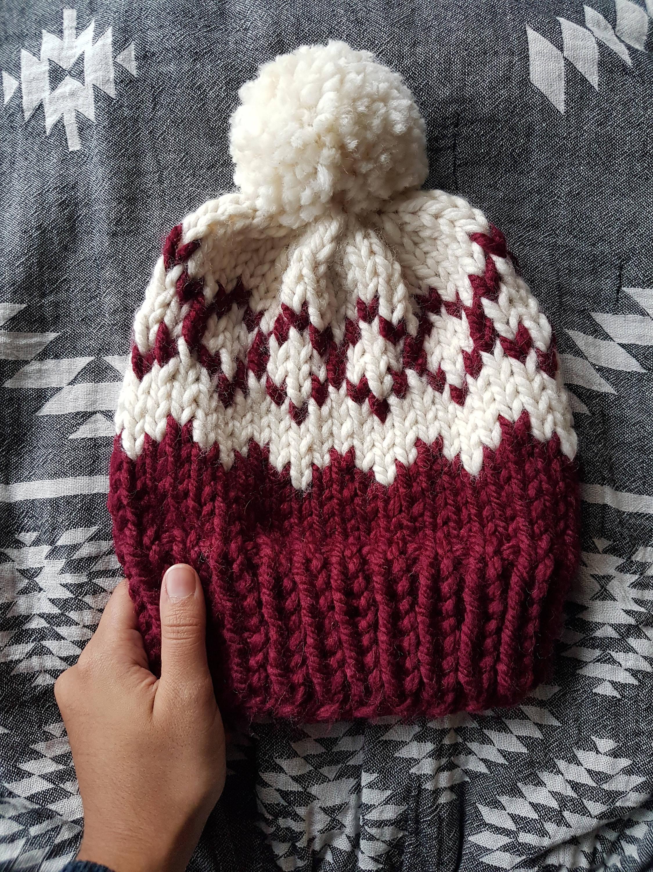 Aztec Fair Isle Knitting Pattern, Knitting Pattern, Fair Isle Beanie ...