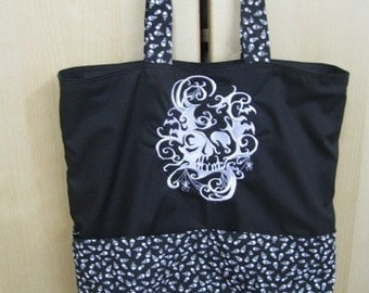 Damask Skull Eco Friendly Tote, Purse, Bag