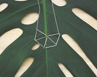 Trilogy Silver Necklace