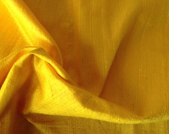 100% pure Dupioni Silk Fabric, Fat Quarter fabric,Indian Raw silk Fabric, Silk Fabric, Yellow Silk Fabric, Indian Dupioni silk Fabric,