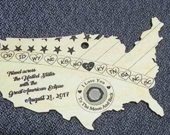 I LOVE YOU ornament To the Moon and Back With your state of choice