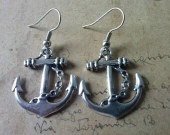 Anchor - earrings ~ silver ~