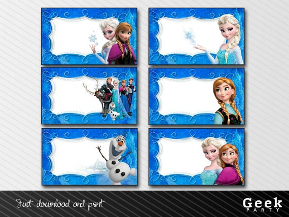 Accomplished image with regard to frozen printable labels