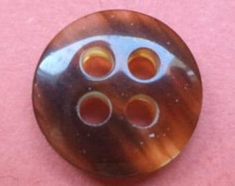 12 small brown buttons 11mm (474)