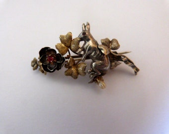 1850 antique Spanish brooch