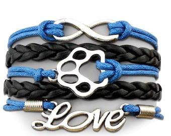 I love my dog (blue and black)