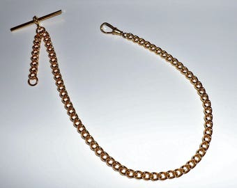 Gold Plated Albert Pocket Watch Fob Chain.