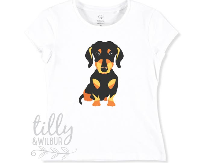 Dachshund T-Shirt For Girls